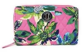 Vera Bradley Turnlock Wallet in Tropical Paradise with Blue Interior - NWT - $44.95