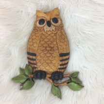 "Vintage Homco Owl Wall Hanger Art 1976 10"" H x 6.25"" W - $10.39"