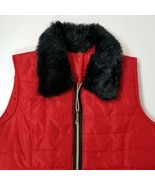 HANNAH Womens Puffy Ski/Snowboard Vest w/Furry Collar-Red-Zip-Lightweigh... - $28.40