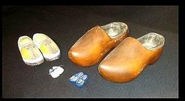 Wooden Clogs AB 636 Hand Carved Vintage