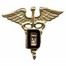 Army Dental Medic Caduceus Dentist Military Badge Pin - $15.33