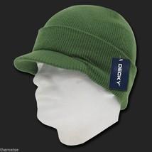 Olive Green Knit Acrylic Jeep Skull B EAN Ie Winter Ski Visor B EAN Ie Hat Cap - $27.07