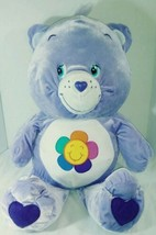 "2004 LARGE 29"" PURPLE CARE BEAR PILLOW ""HARMONY"" PLUSH(CLEAN!!!!) - $30.57"