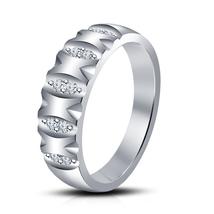 Round Cut Lab Created Diamond 14k White Gold Plated Engagement Wedding R... - $62.99