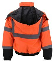 Men's Class 3 Safety High Visibility Water Resistant Reflective Neon Work Jacket image 15