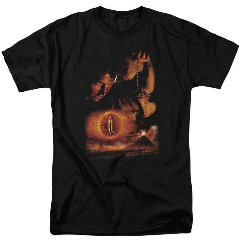 The Lord of the Rings Frodo Baggins The One Ring graphic cotton t-shirt LOR3006