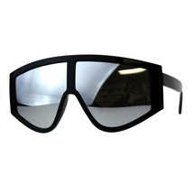Super Oversized Goggle Style Sunglasses Arched Top Shield Fashion Mirror... - $11.95