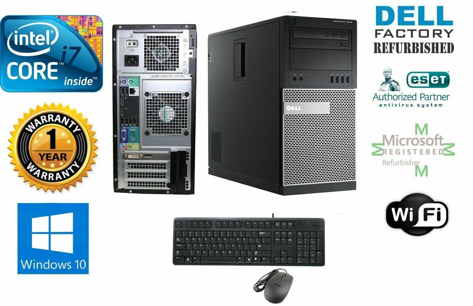 Dell 990 TOWER i7 2600 Quad  3.40GHz 16GB 120GB SSD + 1TB Storage Win 10 Pro 64 - $754.48