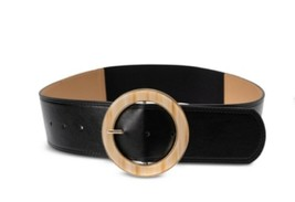 INC International Concepts Round Buckle Faux Leather Stretch Belt S/M - $12.86