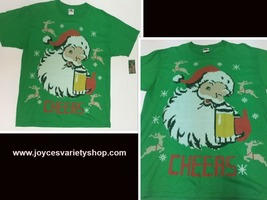 Holiday Party TShirt CHEERS Beer & Santa NWT Sz L - $9.99