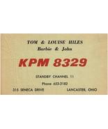 The BEST Vintage QSL Postcard KPM 8329  Lancaster, Ohio  Tom & Louise Hi... - $22.05