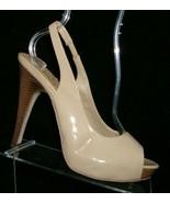 Jessica Simpson Agyness beige peep toe elastic slingback platform heels 10M - $33.30