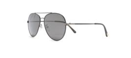 Tom Ford Gafas de Sol Piloto FT0636K 01D 62 Negro Brillante Gris Lente - $545.14