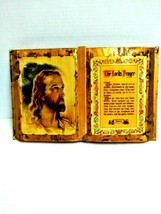 Lords Prayer Decapage Book Jesus Picture 12 inch x 8 inch Beautiful - $34.64