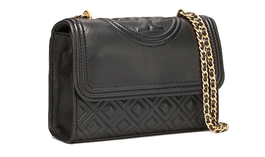 TORY BURCH Fleming Small Convertible Shoulder Bag 43834 Black Color