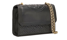 TORY BURCH Fleming Small Convertible Shoulder Bag 43834 Black Color - $220.00