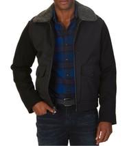 Nautica Mens Wool Sleeve Removable Collar Bomber Jacket Large L Black $228 - $45.00