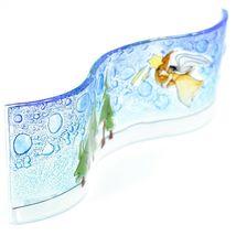 Fused Art Glass Christmas Heraldic Angel Wavy Decor Sun Catcher Handmade Ecuador image 5