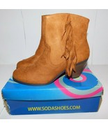 Soda Adin Suede Fringe Brown Boots Size 8 Brand New - $30.00