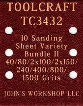 TOOLCRAFT TC3432 - 40/80/100/150/240/400/800/1500 - 10pc Variety Bundle II - $12.46