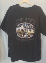 2001 Harley Davidson Durham NC T-Shirt Distressed Sheltons motorcycle US... - $17.66