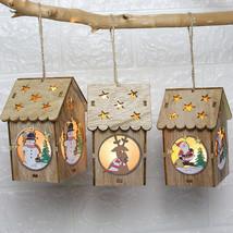 Only ONE Led Luminous Cabins Pendant Christmas Ornamen - $7.00