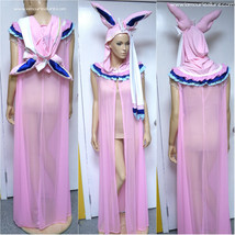 Sylveon Ear Cape Robe Cosplay Dance Costume Rave Bra Halloween Pokemon - $150.00