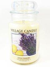 Village Candle Lemon Lavender Scented Large Classic Jar Candle 2 Wicks 2... - $30.00