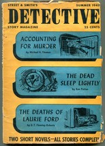 Dective Story Magazine Pulp Summer 1949- Accounting for Murder- Final issue - $94.58