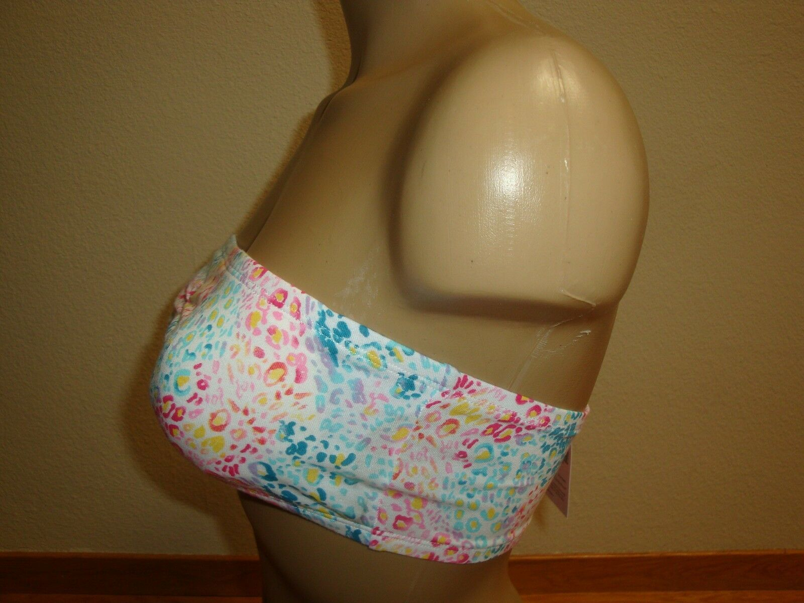 New Style Solutions by Fashion Forms Cotton Bandeau Wire Free Bra Rainbow M image 2