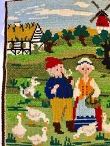 Needlepoint Embroidery tapestry  Windmill Ducks People 11 x 14          ... - £15.27 GBP