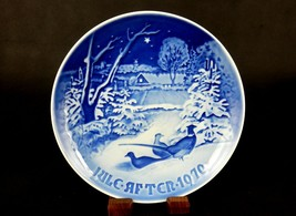 """Pheasants in the Snow at Christmas, Bing & Grondahl 6"""" Christmas Plate #... - $8.77"""