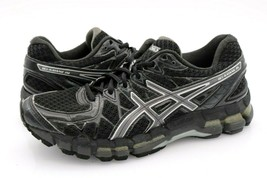 Asics Womens 8 Black Gel Kayano 20 Lace Up Athletic Sneakers Shoes EUR 39.5 - $39.99