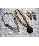 Vintage BOHO Twist A Bead Necklace & Bib Necklace With Dangle Drop Earri... - $25.00