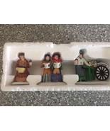 """Heritage Village Collection """"Violet Vendor/Carolers/Chestnut Vendor"""" 5580-8 - $19.79"""