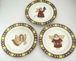 Sakura Gathering of Angels Lot of 3 Salad Plates by Debbie Mum Folk Art ... - $13.85