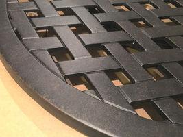 "Lazy Susan turntable 30"" rotates 360 degrees patio cast aluminum Nassau Bronze image 6"