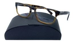 Prada Unisex Brown Rectangle Glasses with case VPR 07P RO4-1O1 54mm - $209.99