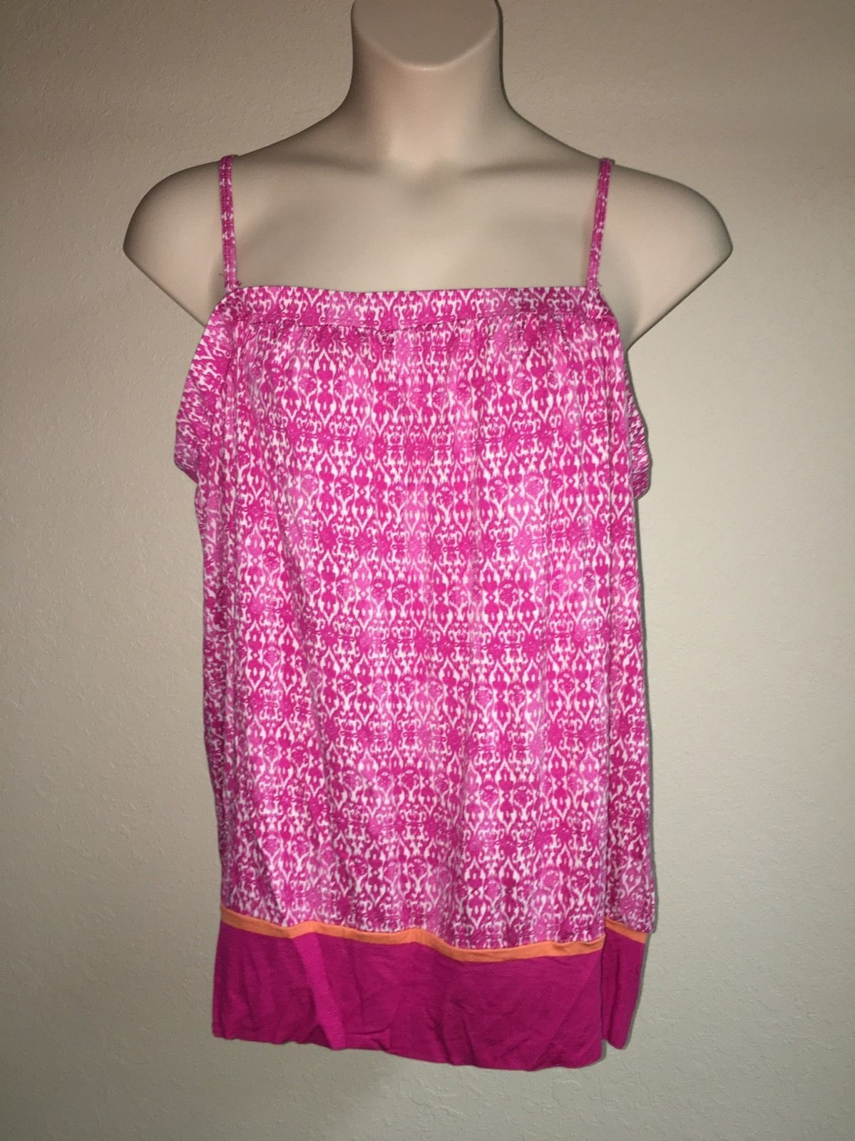 Primary image for Lane Bryant Cami Blouse Pink Multi-Color Plus Size 22/24 Womens NWOT