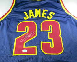 LEBRON JAMES / AUTOGRAPHED CLEVELAND CAVALIERS BLUE CUSTOM JERSEY / WITH... - $227.65