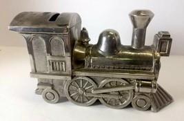 VTG Metal Train Locomotive Locomotive Coin Bank with nice Patina - $17.99