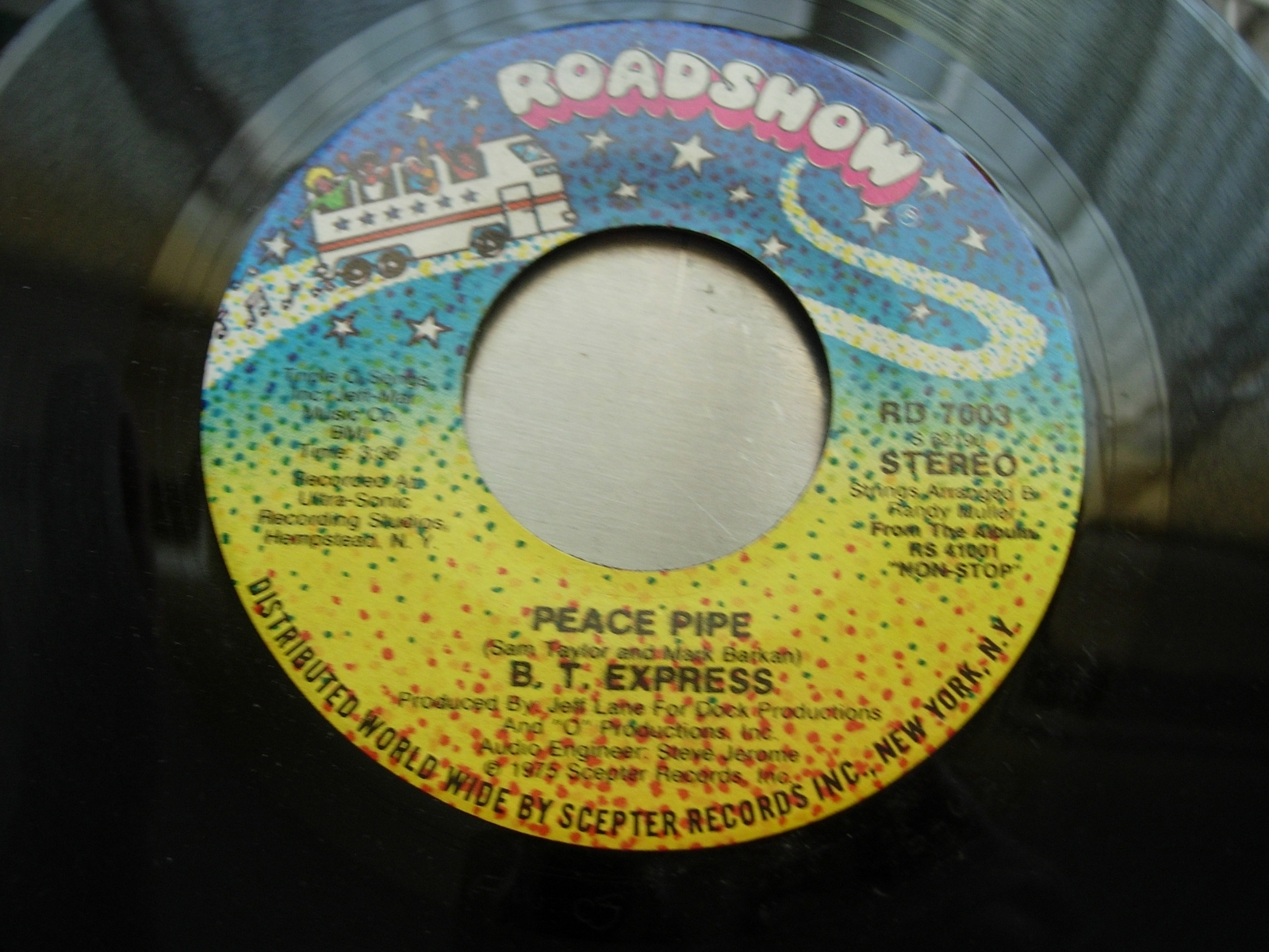 B. T. EXPRESS Peace Pipe / Give It What You Got - Roadshow Records RD 7003