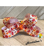Autumn Leaves Boutique Hair Bow on Woven Headband - $16.92
