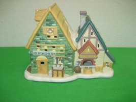 Dickens Collectables Village Blacksmith Towne Series Retired 1995 Christmas - $18.65