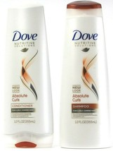 Dove Nutritive Solutions Absolute Curls Coarse Hair Shampoo & Conditioner 12Oz  - $21.99