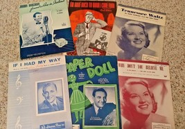 Lot of Six Vintage 1913 TO 1952 Sheet Music - $12.99