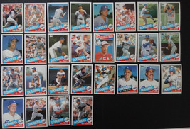 1985 Topps Los Angeles Dodgers Team Set of 28 Baseball Cards - $12.00