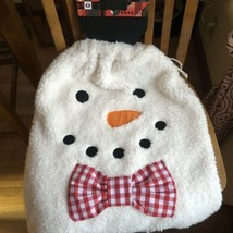 FAO F.A.O Schwarz Fluffy Snowman Christmas Holiday Large Gift Sack Bag NWT - $34.65