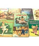 Vintage lot of 8 old books Magilla Gorilla Little Majorette Jungle Book ... - $37.39