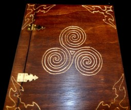 Wooden Handcrafted Triskele 2 Book of Shadows/Journals - $72.39